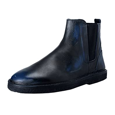 4ff185927e5bd9 Image Unavailable. Image not available for. Color: Golden Goose Portman  Men's Faded Blue Leather Ankle Boots ...