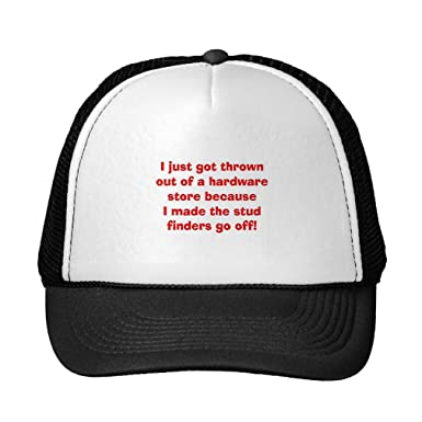 2171e3ac960 Amazon.com  Custom it for you Funny Stud Finder! Trucker Hat Black ...