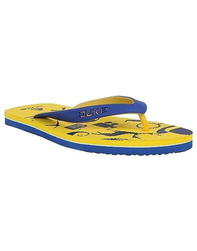 6b7e5eefa20 Duke Men s Yellow   Blue Coloured Eva Slippers 11  Buy Online at Low ...