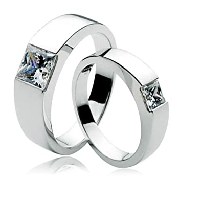 Buy Anvi Jewellers Platinum Plated Couple Ring For Men Women