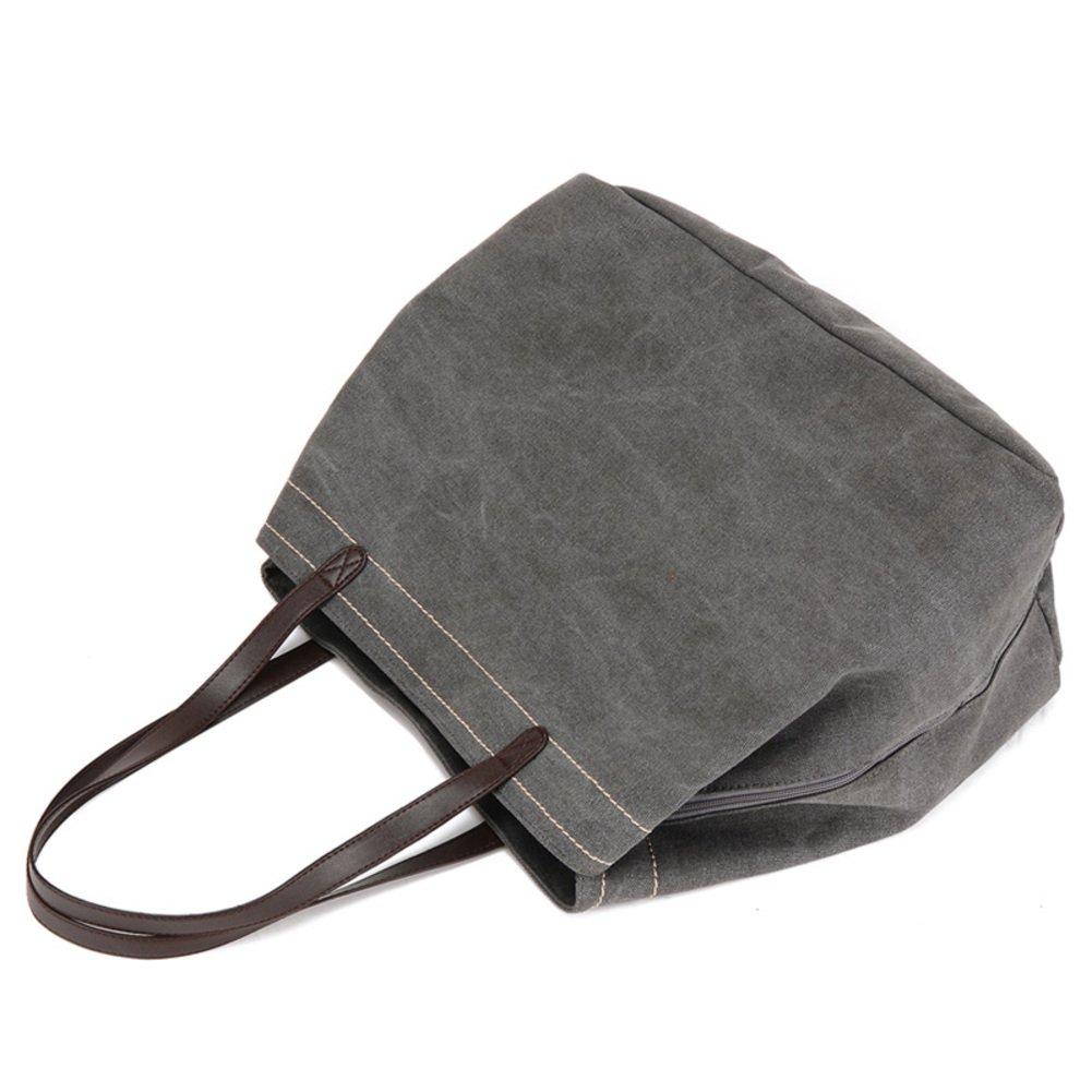 Ms. Canvas-tasche,Hochleistungs-umhängetasche Handtasche Handtasche Handtasche Große schultertaschen für frauen Crossbody taschen-Grau B07B9R3Y7S Henkeltaschen Hohe Sicherheit 07df02