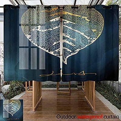 VIVIDX - Cortina de privacidad para Exteriores, Tela Impermeable con pestaña Superior para Ventana de pergola/Patio/balcón, fácil de Colgar, 2 Paneles: Amazon.es: Jardín