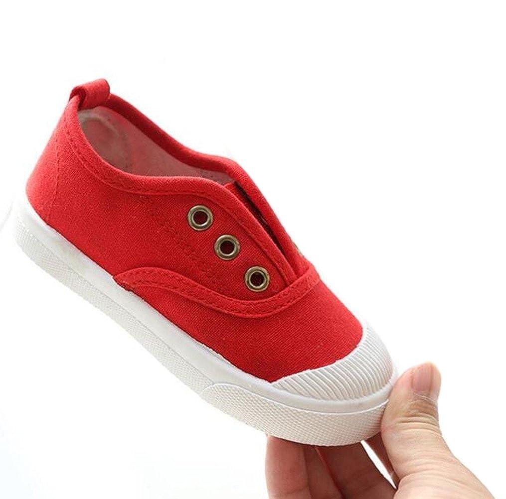 DADAWEN Boys Girls Canvas Light Weight Slip-On Sneakers Running Shoe 71143
