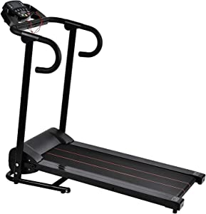 Murtisol 1000W Folding Treadmill Compact Electric Running Exercise Machine, Good for Home/Apartment Fitness, with Safe Handlebar, Easy Control LCD Display