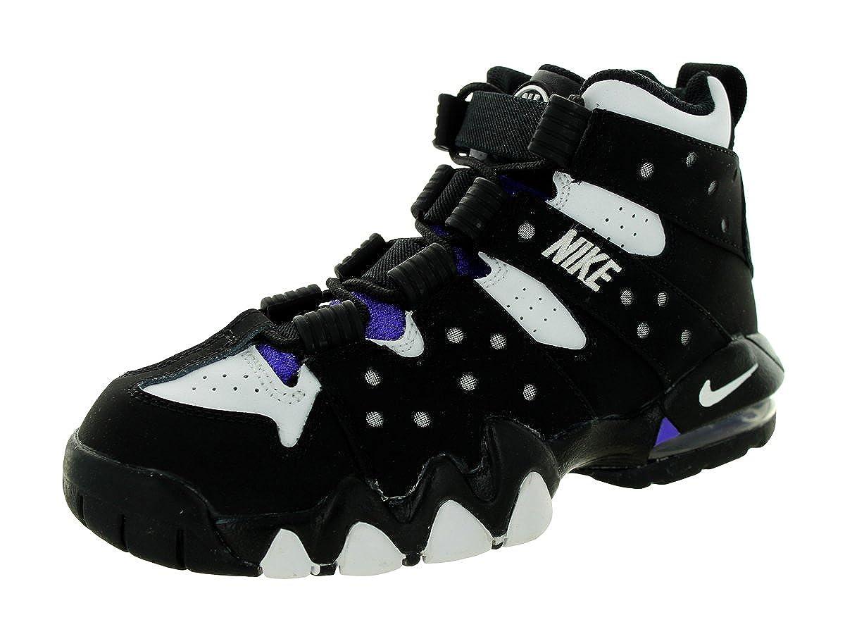 51ae9dd21d4df Amazon.com  Nike Kids Air Max CB 94 (GS) Black White Pure Purple Basketball  Shoe 6 Kids US  Shoes