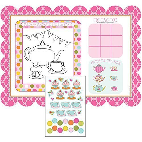 (Tea Time Placemats with Activity Stickers (2-Pack) )