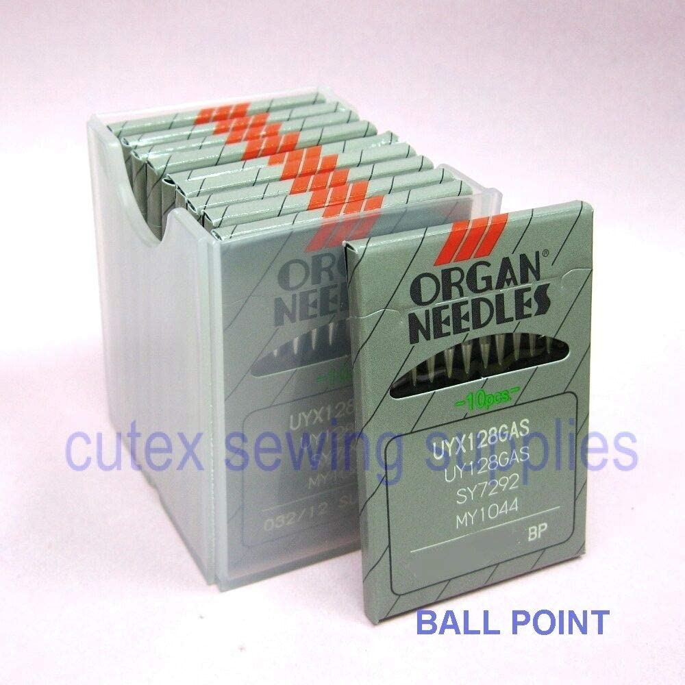100 Organ UYX128GAS // UY128GAS Ball-Point Industrial CoverStitch Machine Needles Metric 110 Size 18