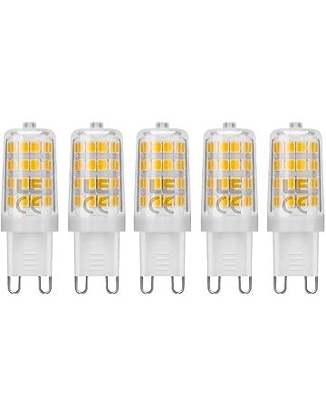 LE Bombillas LED, G9 5W Equivale 50W Halógena, Blanco Cálido 340lm, Pack de