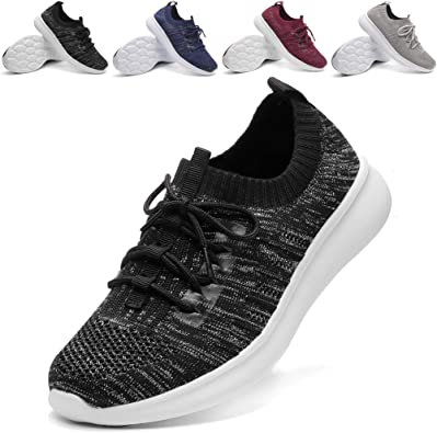 Amazon.com | DADAWEN Women's Athletic Walking Shoes Lightweight Casual  Breathable Sneakers Tennis Shoe (Size:US5-US12) | Walking