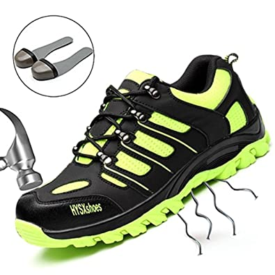 e14a8ce847313 SUADEEX Steel Toe Shoes Men, Work Shoes, Safety Shoes, Steel Toe Boots for  Men
