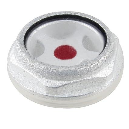 Sourcingmap - 26mm hilo de vidrio de nivel de aceite del compresor de aire de metal