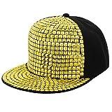 La moriposa Unisex Kid Shiny Rivet Sequins Reflective Baseball Snapback Cap Dance Party Adjustable Hip-Hop Hat(Gold)