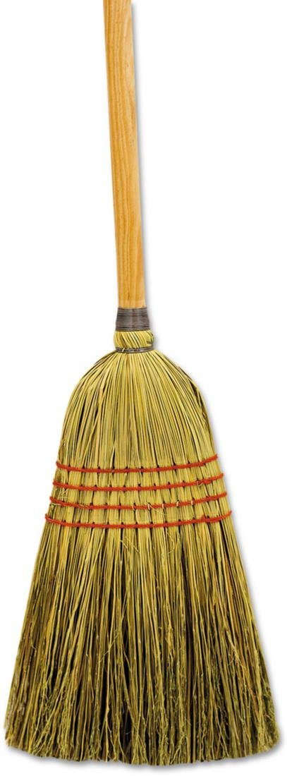 Boardwalk Maid Broom, Mixed Fiber Bristles, 42'' Wood Handle, Natural, 12/Carton