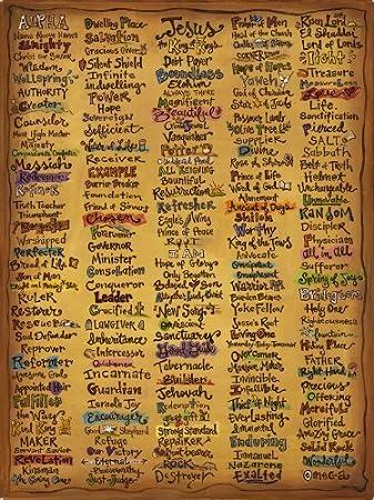 Names Of God Canvas   22x30u0026quot; Christian Wall Art Print