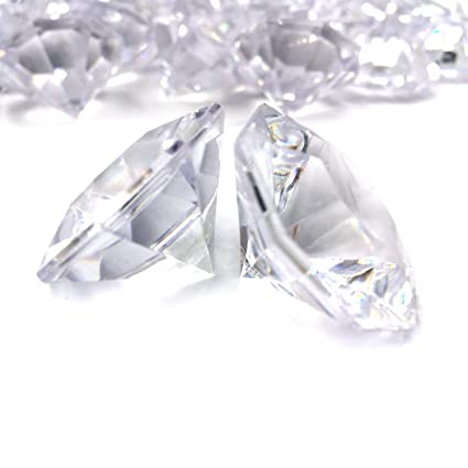 Amazon Com Pkg Of 24 Clear 25 Carat Acrylic Diamonds With Super Big