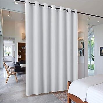 Amazon.de: PONY DANCE Raumteiler Vorhang Grau-weiß - Büro Trennwand ...