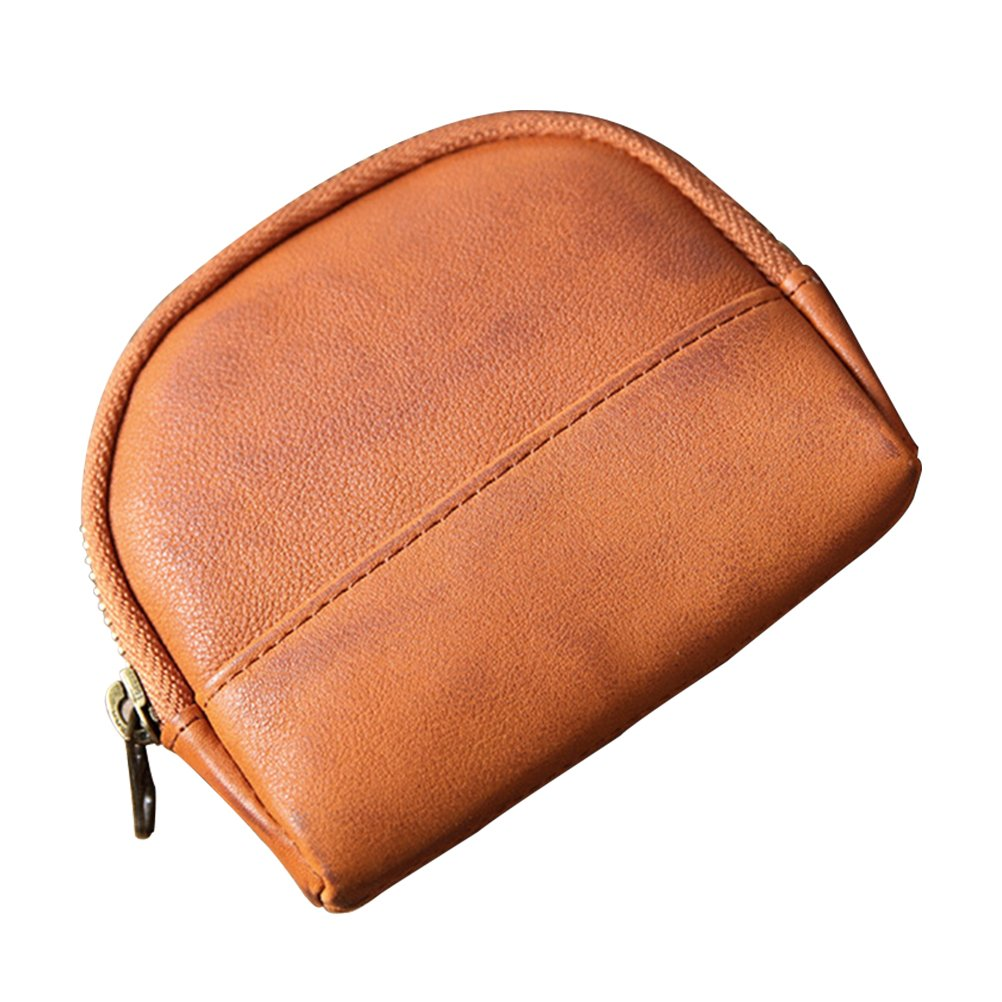 Fmeida Leather Coin Purse Pouch Zipper Change Holder Wallet for Women Girls