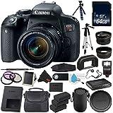 6Ave Canon EOS Rebel T7i DSLR Camera with 18-55mm Lens 1894C002 Premium Bundle - International Version (No warranty)