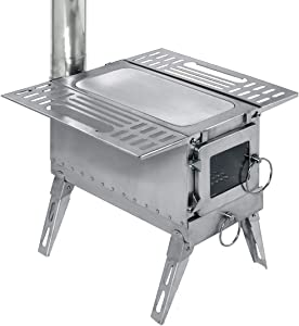 DACHEL Outdoor Tent Wood Stove with Pipe