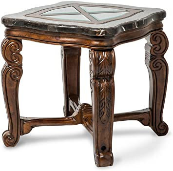 Amazon Com Michael Amini Tuscano End Table Melange Furniture Decor