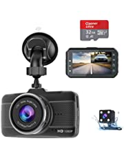 $43 » Dash Cam Front and Rear Claoner FHD 1080P Backup Car Camera with Night Vision, 3 Inch IPS Screen, 170° Wide Angle, Loop Recording, G-Sensor, Motion Detection, Parking Monitor with SD Card