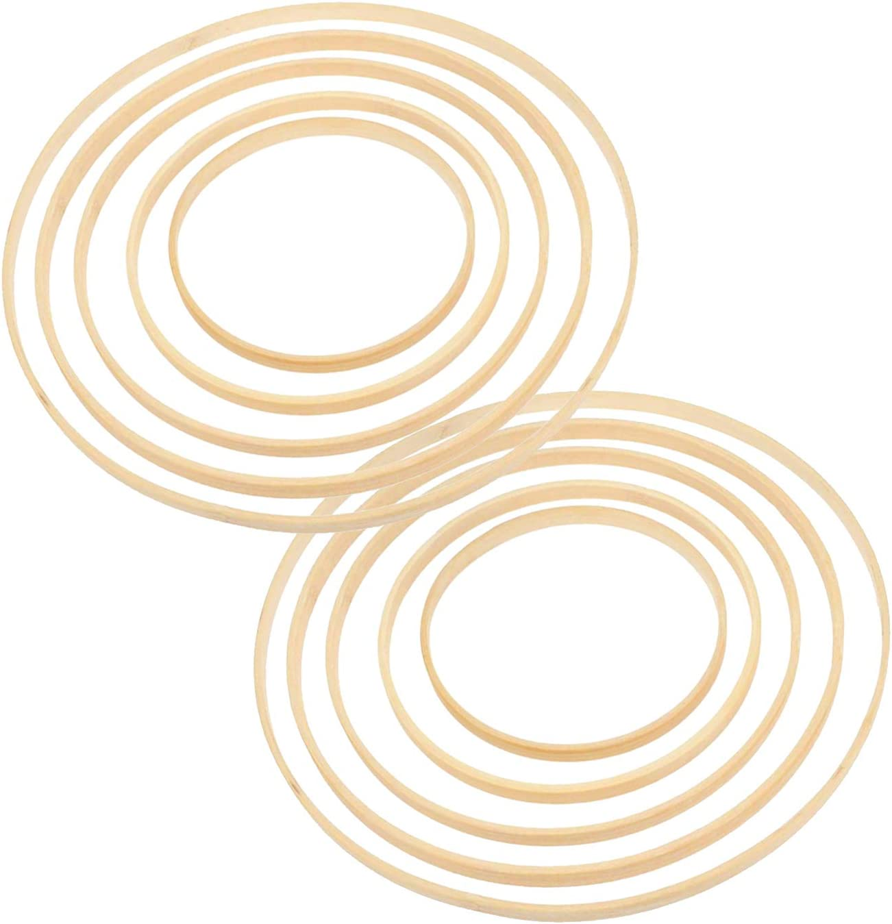 5 Gr/ö/ßen Hochzeitskranz Dekor und Wandbehang Handwerk TOCYORIC 10 St/ück Traumf/änger Holz Ringe Bambus Makramee Ring Rund Bambusringe Basteln f/ür DIY Weihnachtskranz Traumf/änger