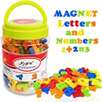 Magnetic Alphabet Letters and Numbers for Toddlers Magnets ABC 123 Fridge White Board Educational Toy Kit Preschool…