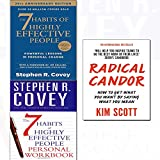 img - for Radical candor,7 habits of highly effective people,personal workbook 3 books collection set book / textbook / text book