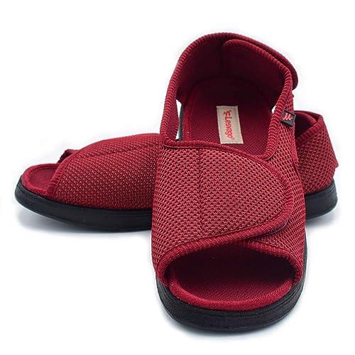 31a6333b6d436 Amazon.com   Mei MACLEOD Open Toe Slipper Sandals Swollen Feet ...
