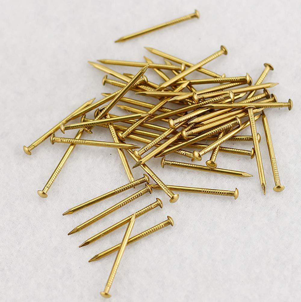 12 mm Wholesale Omyzon 200 pcs T/ête ronde en cuivre Dor/é en bois vernis /à ongles DIY D/écoration Bo/îtes Accessoires Dor/é 1,2