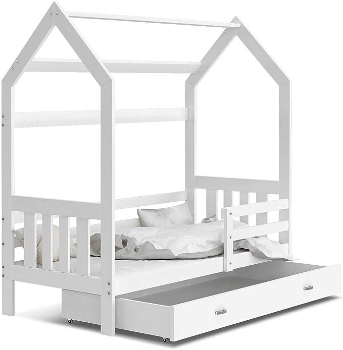 KIDS LITERIE alergénico 80 x 160 Color Blanco Incluye cajón, somier y colchón de Espuma de 7 cm