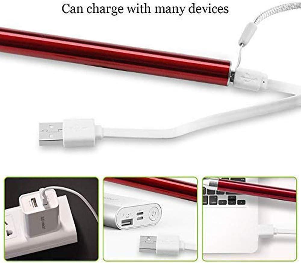 Removedor de Cera de O/ído Limpiador de o/ídos limpia oidos cera Led Flash Earpick con carga USB Cera del o/ído Cureta Kit para Adultos Beb/és para ni/ños mayores Rojo