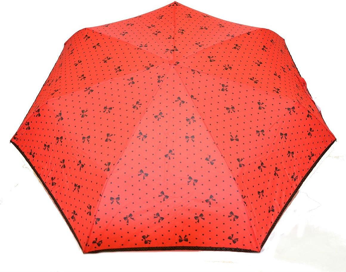 Camomilla Paraguas de mujer de bolso lunares rojos abiertos ...