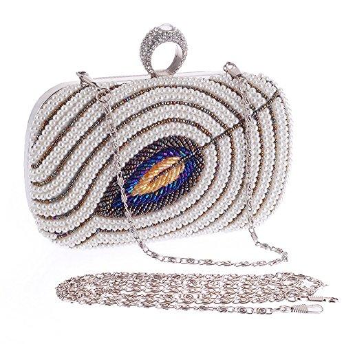 Pochette Strass À Épaule Dames Sac Main Robe Mariage Pour Gold Perle Soirée awwqt6r