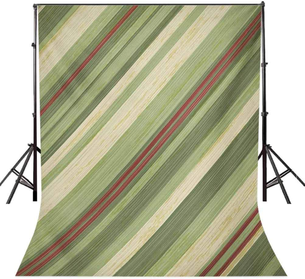 10x12 FT Photography Backdrop Red Green Diagonal Stripes on Old Aged Design Grungy Background Abstract Print Background for Baby Shower Birthday Wedding Bridal Shower Party Decoration Photo Studio