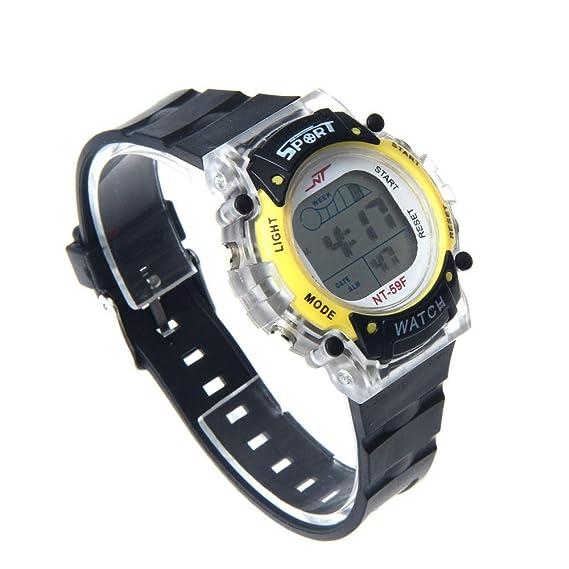 Bestow Reloj para Hombre Reloj de Pulsera Deportivo LED Deportivo: Amazon.es: Ropa y accesorios