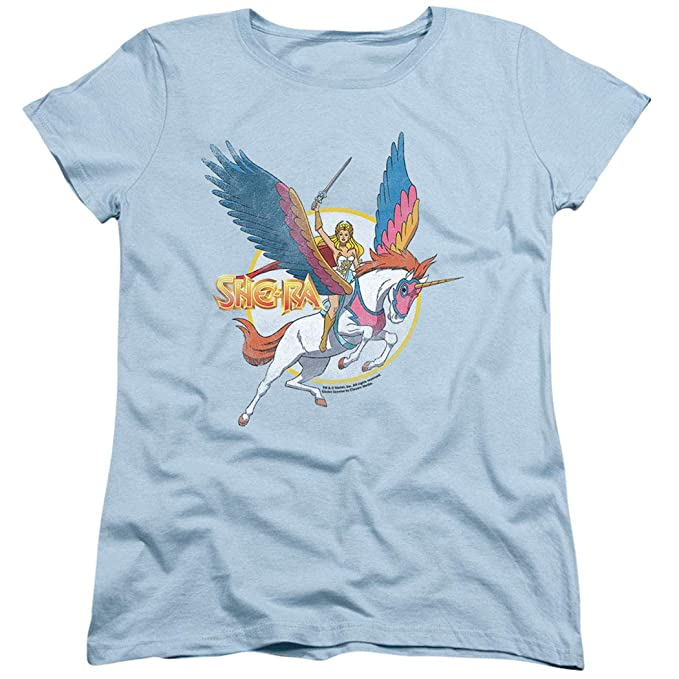 392686bc Amazon.com: Popfunk She-Ra and Swiftwind Women's T Shirt & Stickers ...