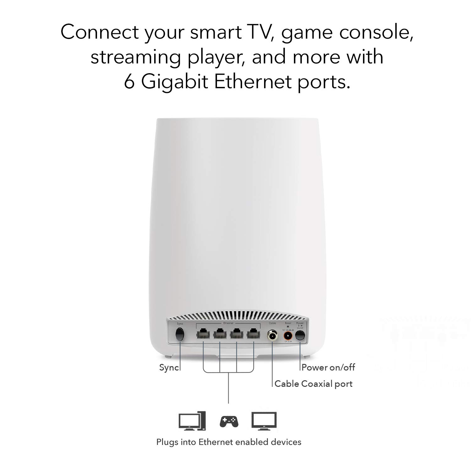 NETGEAR Orbi All-in-One Cable Modem + Whole Home Mesh-Ready WiFi Router - for Internet connectivity and speeds up to 2.2 Gbps Over 2,000 sq. feet, AC2200 (CBR40) by NETGEAR (Image #3)