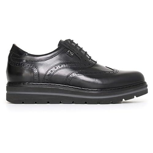 Nero Giardini donna inglesine nere A719393D scarpe in pelle