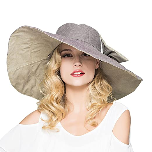 429961b85f5 Image Unavailable. Image not available for. Color  Sun Hats for Women with uv  Protection Wide Big Brim UPF 50 ...