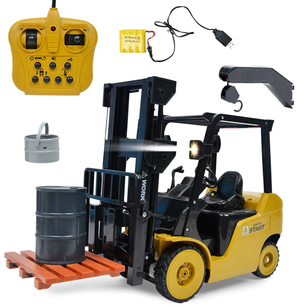 Yalehabi Remote Control Forklift 14 Inch Tall, Full Functional Professional RC Forklift Construction Toys, High Powered Motors, Truck 1:14 RC Remote Control Ideal Present Toy
