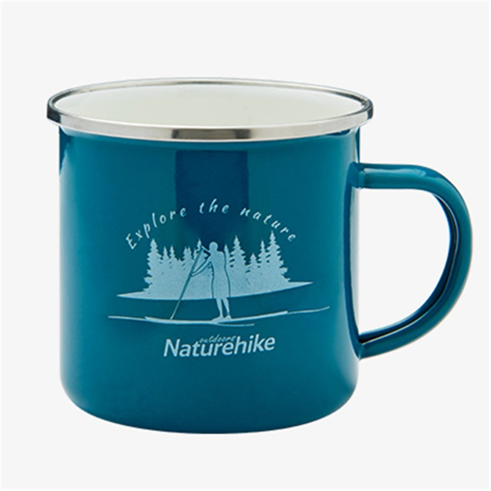 Naturehike エナメル アウトドア キャンピング マグ コーヒーカップ 旅行 ピクニック  グリーン B07BNKTHL8