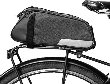 Ligero Alforja de maletero de bicicleta, gran capacidad Alineada ...
