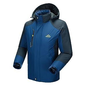 Modern Fantasy Mens Insulated Snowboard Fleece Waterproof Outdoor Venture Jacket Size US Dark Blue S