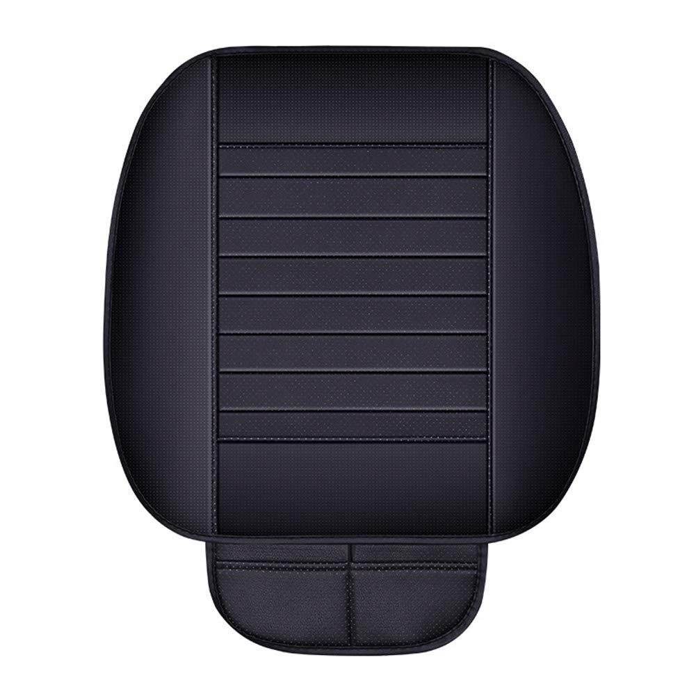 juice-ma PU Transpirable Cubierta del Asiento Interior del Coche coj/ín Almohadilla para Auto Suministros Oficina Silla Protector Compatible con 90/% veh/ículos S Black