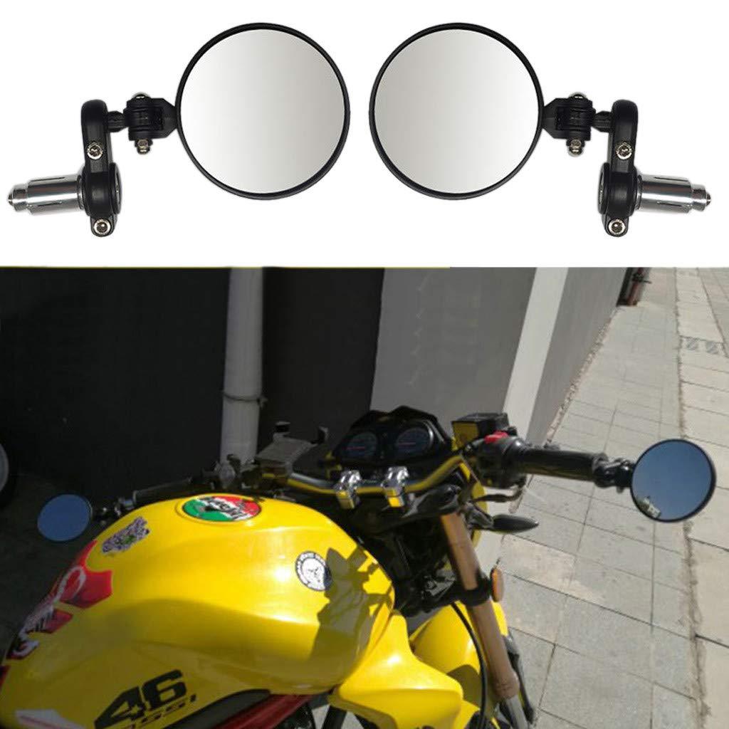 12shage 2X Faltbar Motorradspiegel Motorrad Spiegel R/ückspiegel Lenkerspiegel 7//8 Lenker Motorrad R/ückspiegel