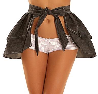 b43545e10f Amazon.com  Daisy Corsets Women s Lavish Denim Layered Skirt  Clothing