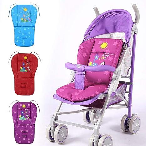 Cojín para silla de paseo de bebé, cojín de algodón grueso y ...