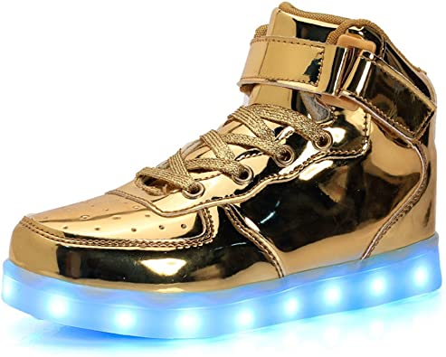 AOBMY Led Shoes High Top USB Charging