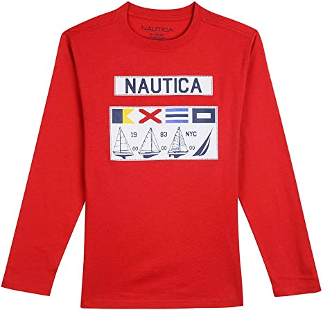 Nautica Boys Long Sleeve Graphic T-Shirt